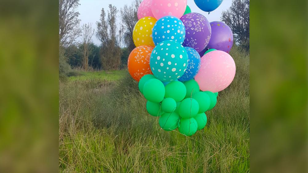 Incendiary balloons with suspicious object and device attached in Israel