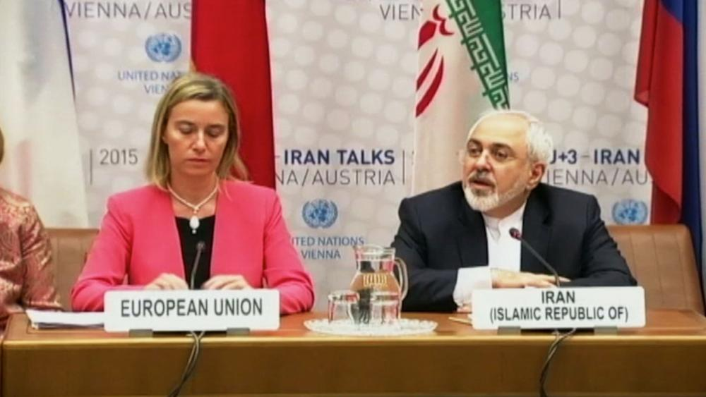 EU High Representative Federica Mogherini and Iranian Foreign Minister Javad Zarif, Photo, AP archives