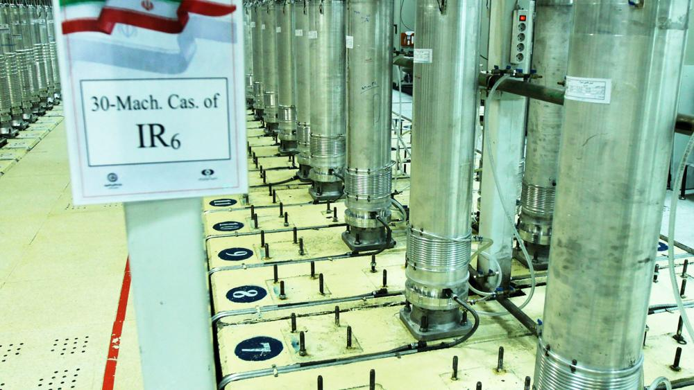 This file photo released Nov. 5, 2019, by the Atomic Energy Organization of Iran, shows centrifuge machines in the Natanz uranium enrichment facility. (Atomic Energy Organization of Iran via AP, File)