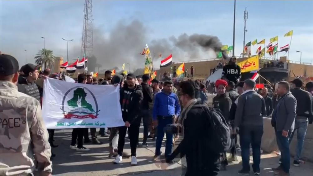 Protesters at US Embassy in Iraq