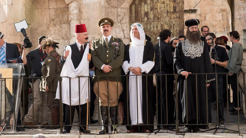 Celebrating 100 years after liberating Jerusalem, General Allenby at the Tower of David Museum ceremony. Photo, CBN News