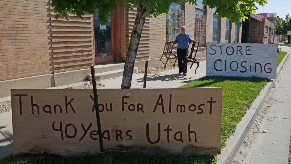 Business owner Scott Evans ended his art and antiques business in May of 2020 in Salt Lake City after 40 years, due to coronavirus impact (AP Photo/Rick Bowmer)