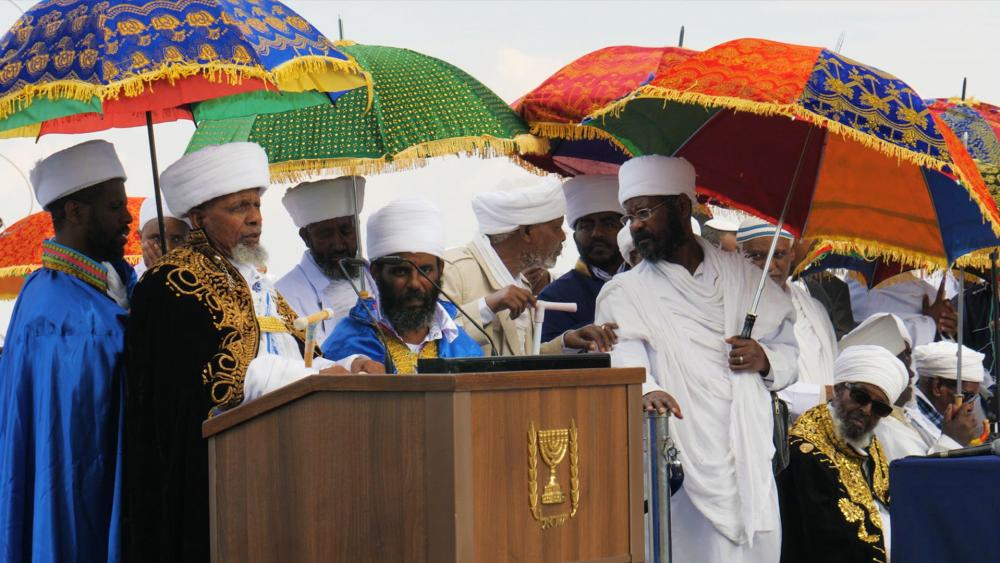 Thousands of Ethiopian Jews gather to for the holiday of Sigd, in Jerusalem. Photo, CBN News, Jonathan Goff