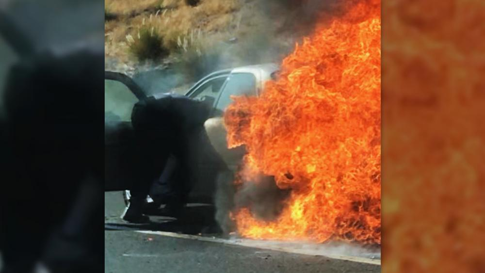 'God Took Care of Them': 5 'Heroes' Pull Elderly Couple from Burning Car in California