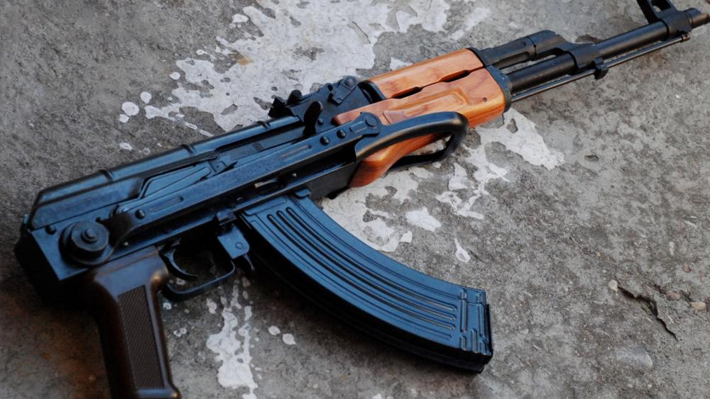 AK47 assault rifle, illustrative