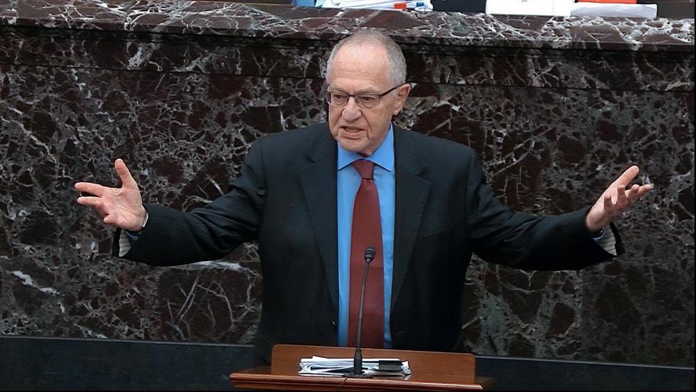 Legal expert Alan Dershowitz (Senate Television via AP, File)