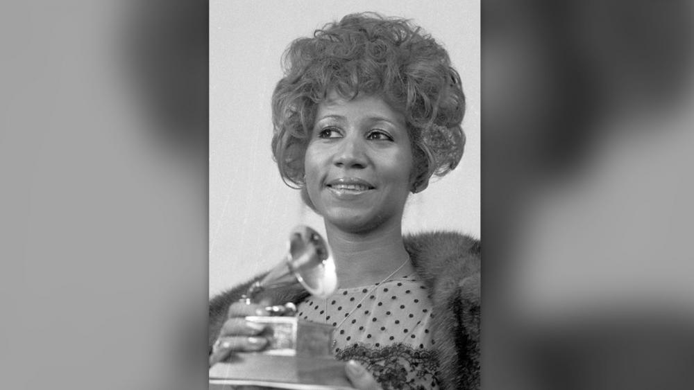 "More than 46 years after it was shot, the Aretha Franklin concert film ""Amazing Grace"" will finally be released.  AP File Photo: Franklin holds her 1972 Grammy Award for best Rhythm and Blues performance of the song ""Bridge Over Troubled Waters."""