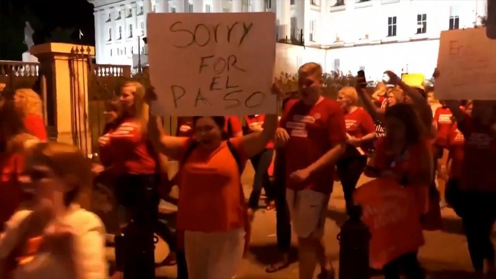 Protest against gun violence in El Paso, Texas