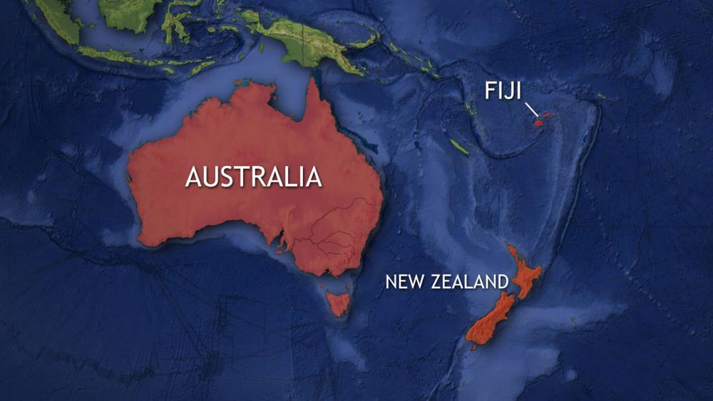 Map showing Fiji location