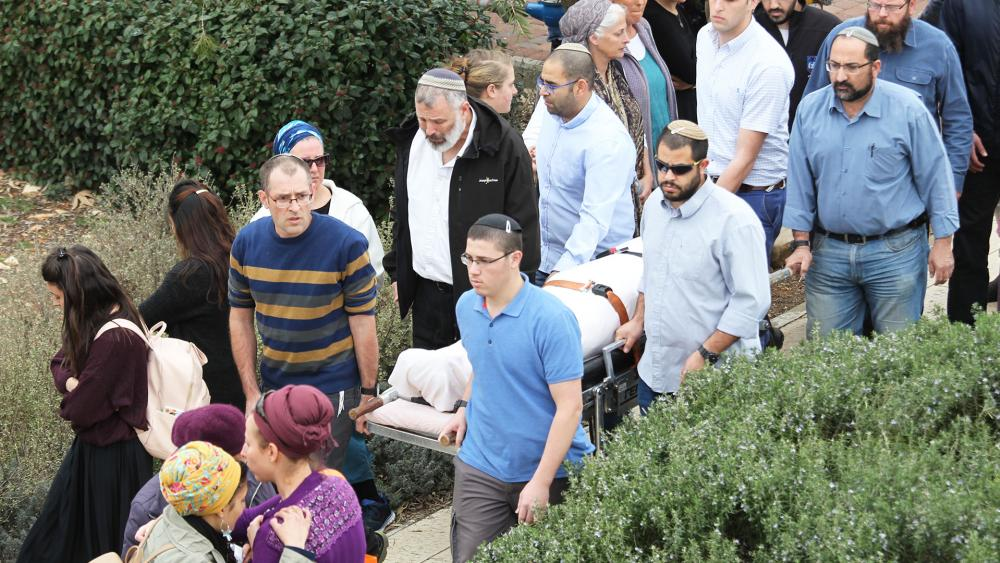 Funeral in Har Bracha for Rabbi Itamar Ben Gal, Photo, TPS, Hillel Maeir