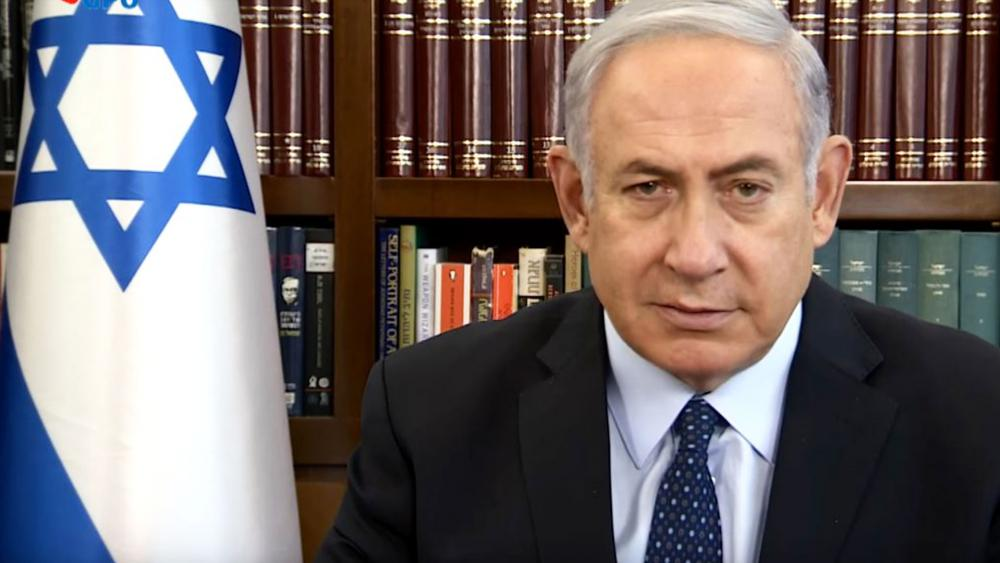 Israeli Prime Minister Benjamin Netanyahu Thanks US President Donald Trump for New Sanctions against Iran, Photo, GPO Screen Capture