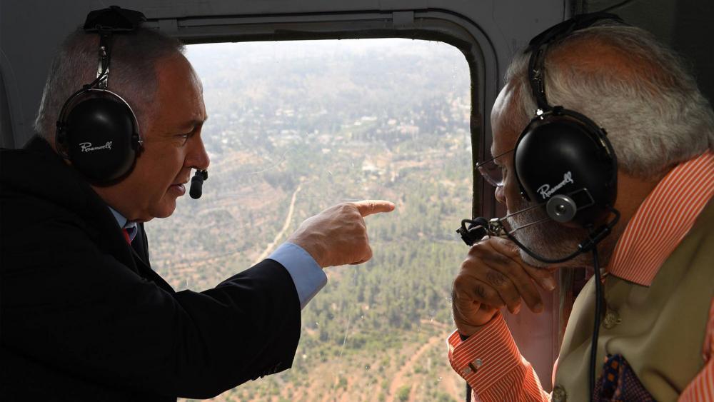 Israeli Prime Minister Benjamin Netanyahu and Indian Prime Minister Narendra Modi Travel to Haifa, Photo Courtesy GPO