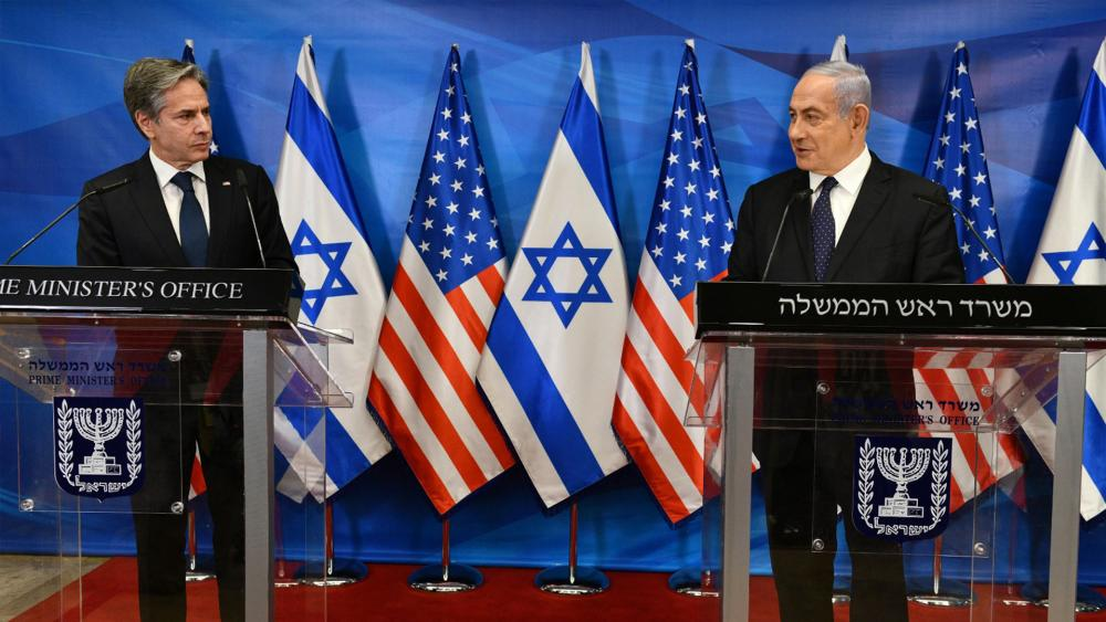 blinken and netanyahu at a press conference