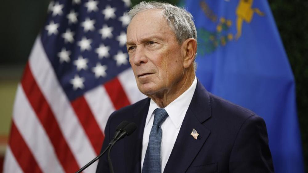 In this Feb. 26, 2019, file photo, former New York City Mayor Michael Bloomberg speaks at a news conference at a gun control advocacy event in Las Vegas (AP Photo)