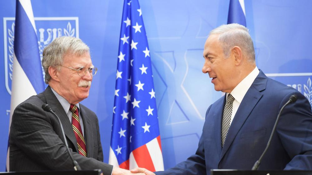 US National Security Advisor John Bolton meets with Israeli Prime Minister Benjamin Netanyahu, Photo, GPO, Amos Ben-Gershom