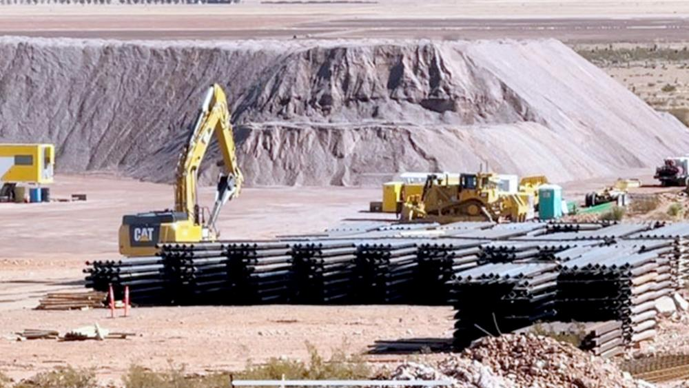 U.S. border wall halted in New Mexico (Photos all by Chuck Holton/CBN News)