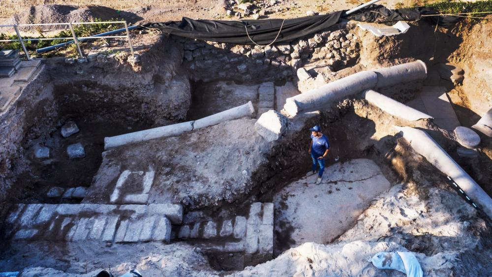 Excavation Site at Caesarea National Park, Photo, IAA