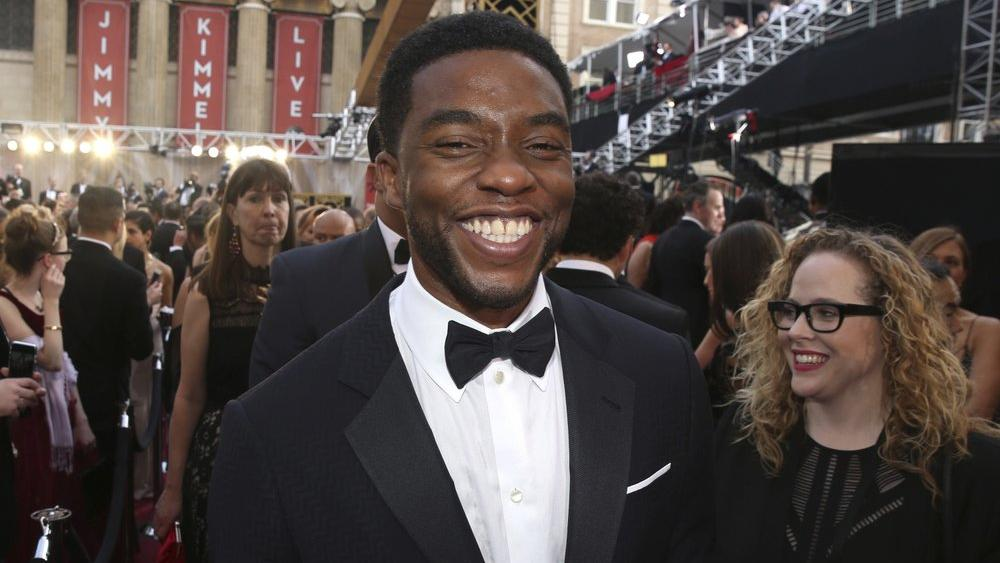 In this Feb. 28, 2016 file photo, Chadwick Boseman arrives at the Oscars in Los Angeles. (Photo by Matt Sayles/Invision/AP, File)