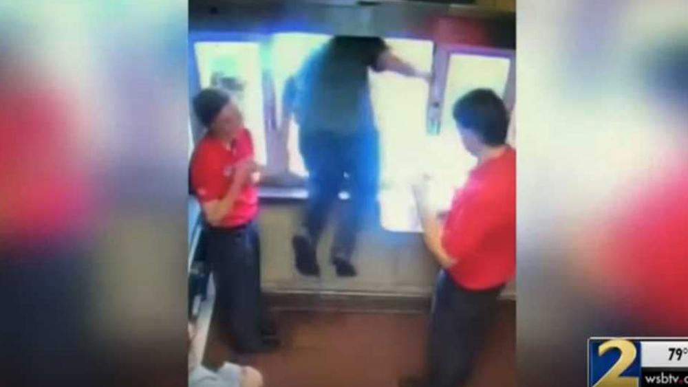 photograph relating to Chick Fil a Printable Applications titled Chick-Fil-A Staff Jumps Throughout Determination-via Window in the direction of Help save