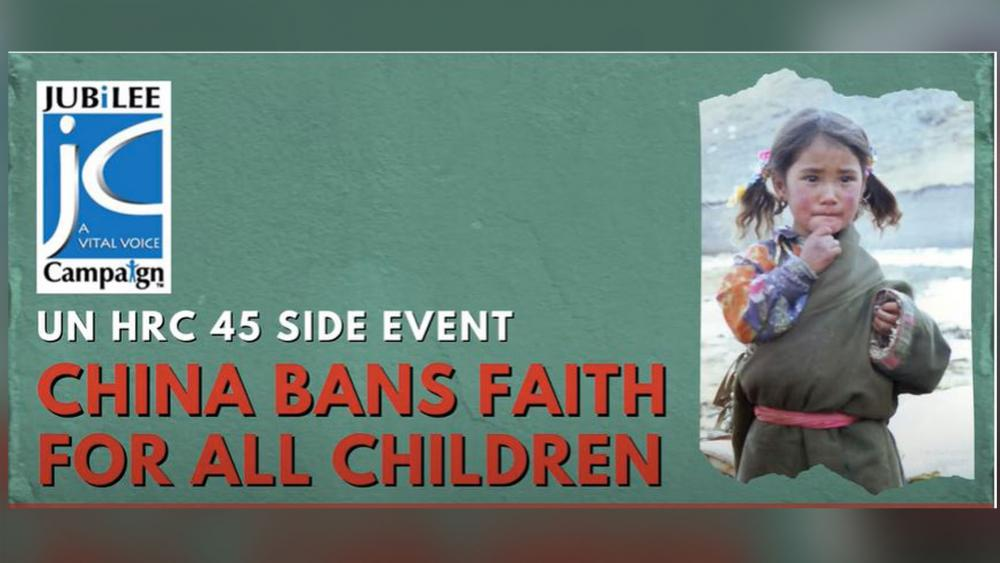 'China Bans Faith for All Children': Watch Jubilee Campaign Event at UN Human Rights Council thumbnail