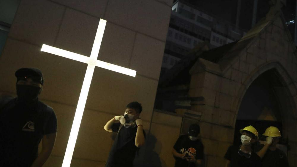 China Rips Crosses from Churches, Throwing to the Ground Elderly Man Trying to Stop It thumbnail