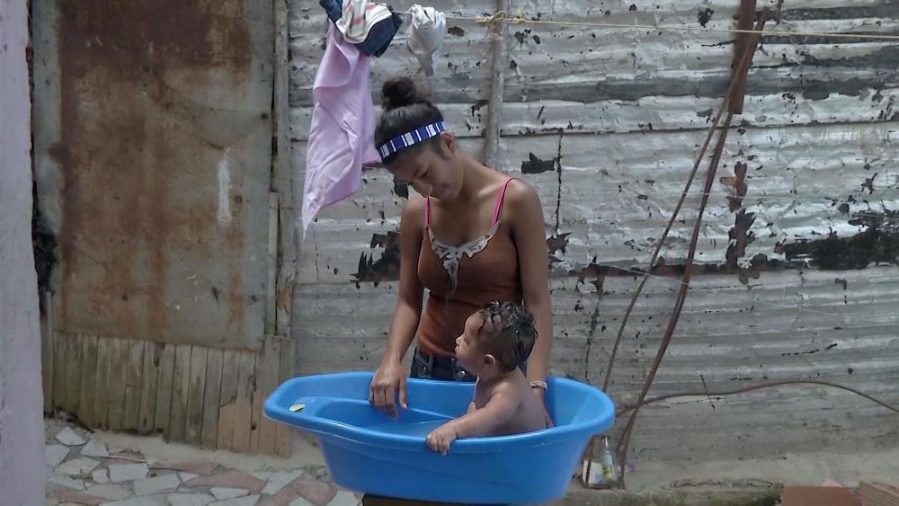Venezuelan mother and child