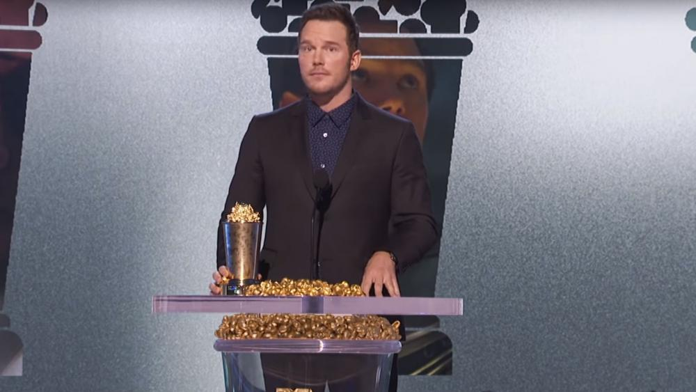Actor Chris Pratt appears at the MTV Awards. (AP Photo)
