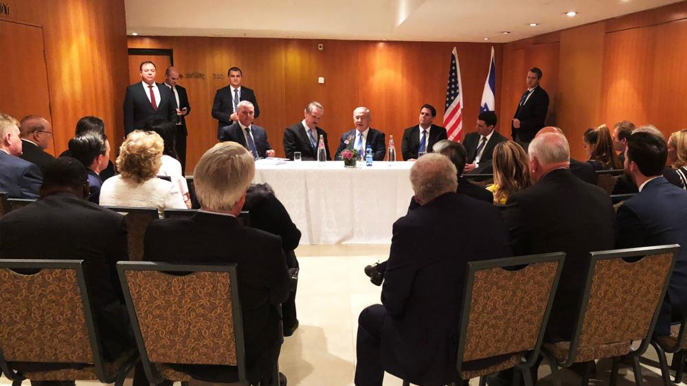 Israeli Prime Minister Benjamin Netanyahu Meets with American Christian Leaders, Photo, CBN News, Jonathan Goff