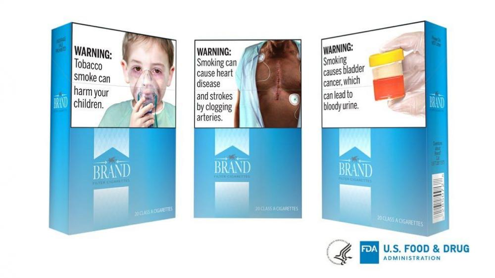 This undated image provided by the U.S. Food and Drug Administration shows proposed graphic warnings that would appear on cigarettes. (FDA via AP)