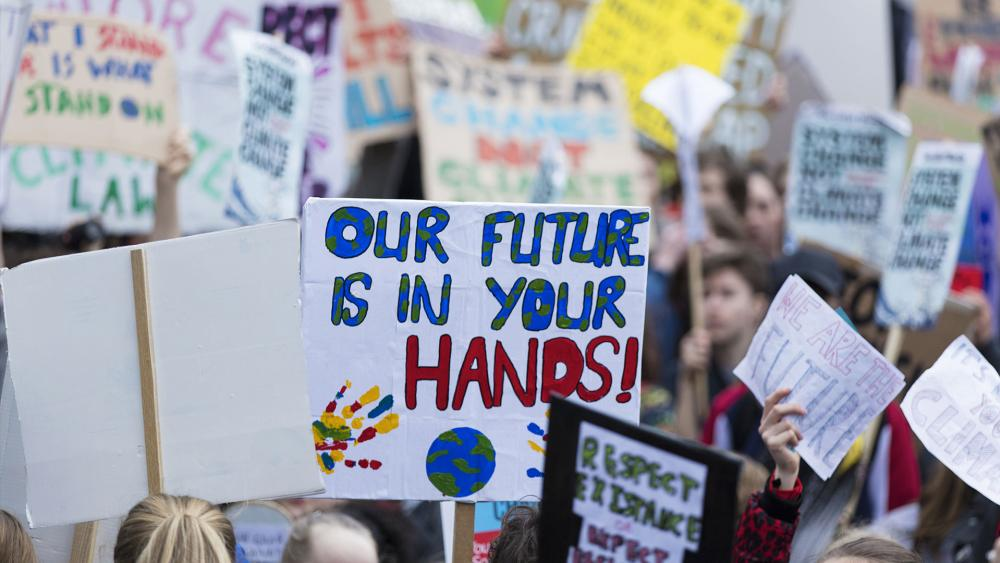 climate change protest (Adobe stock image)