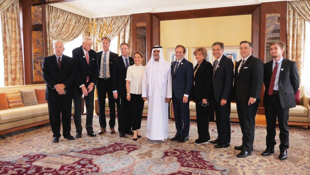 Christian Leaders with UAE Crown Prince Sheikh Mohamed bin Zayed Al Nahyan, Photo, CBN News