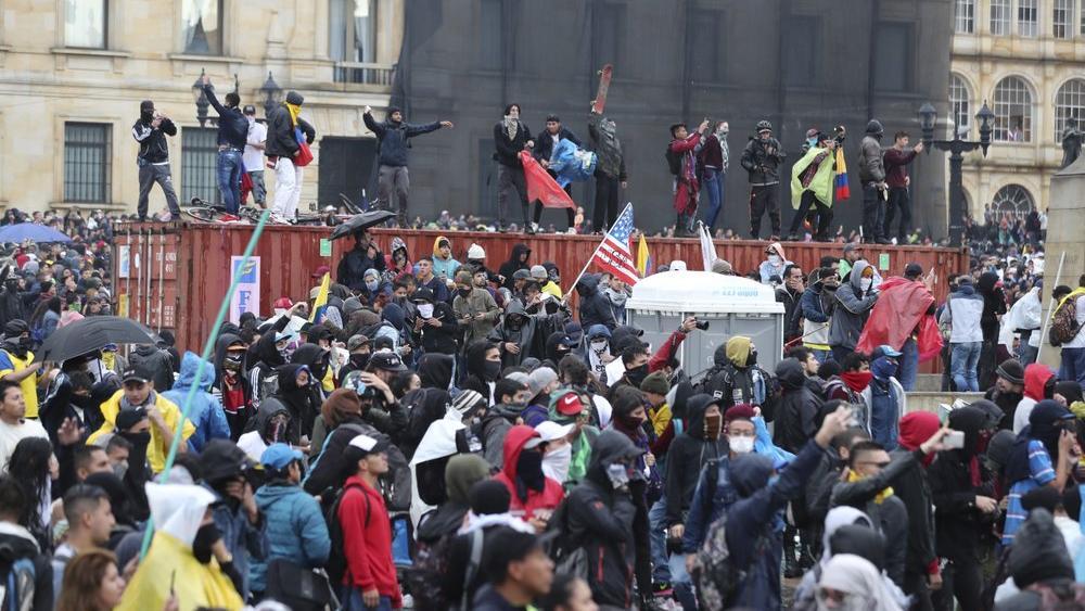 Colombia Protest Foto AP -  Fernando Vergara