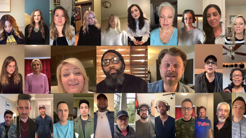"TenTwoSix Music presents - The Nashville Studio Singer Community  - Virtual Cell Phone Choir - ""It Is Well With My Soul"" arranged by: David Wise (Image: screen grab)"