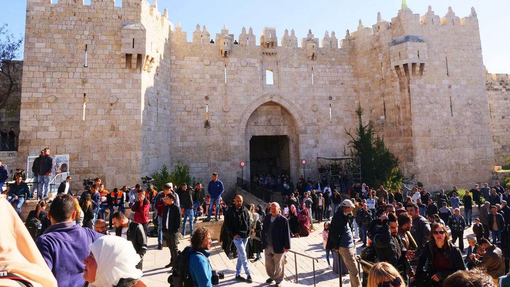 Protests at the Damascus Gate in Jerusalem's Old City, Photo, CBN News