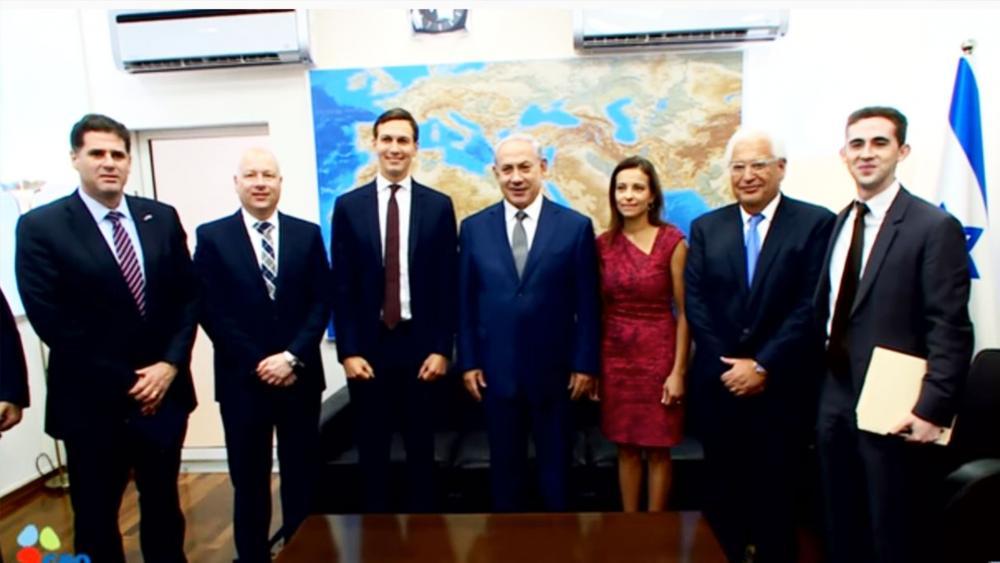 US Delegation with Israeli Prime Minister Benjamin Netanyahu, Screen Capture