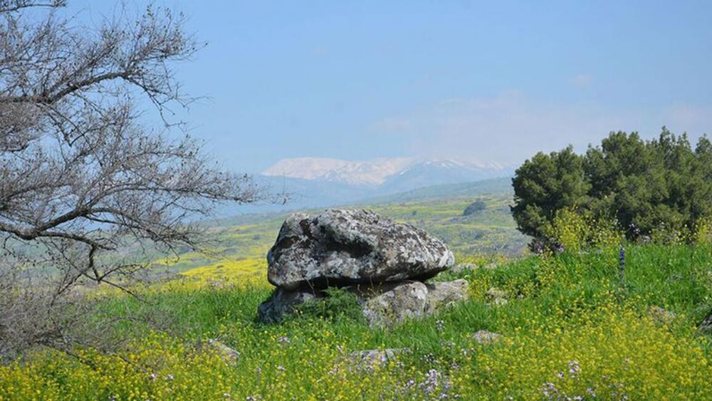 4,000-Year-Old Dolmen, Photo, Prof. Gonen Sharon, Tel Hai College
