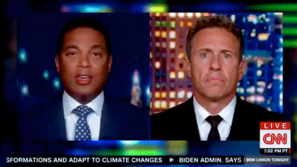 CNN Anchors Don Lemon and Chris Cuomo malign unvaccinated Americans (Image: screen shot)