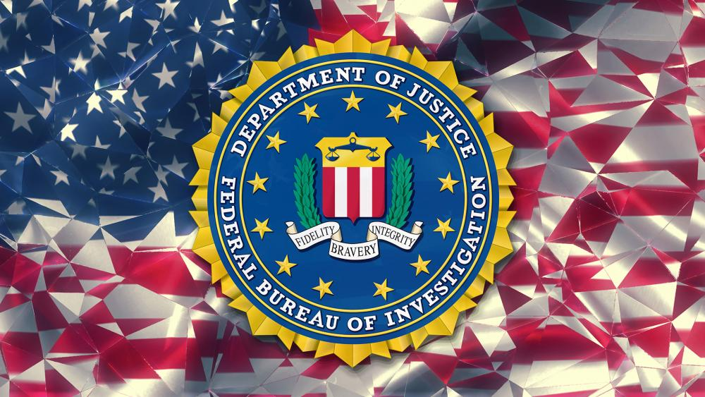 FBI logo and American flag