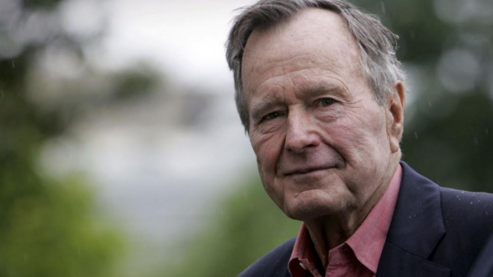 Former President George H.W. Bush died late Friday at his Houston home. He was 94.  AP photo.