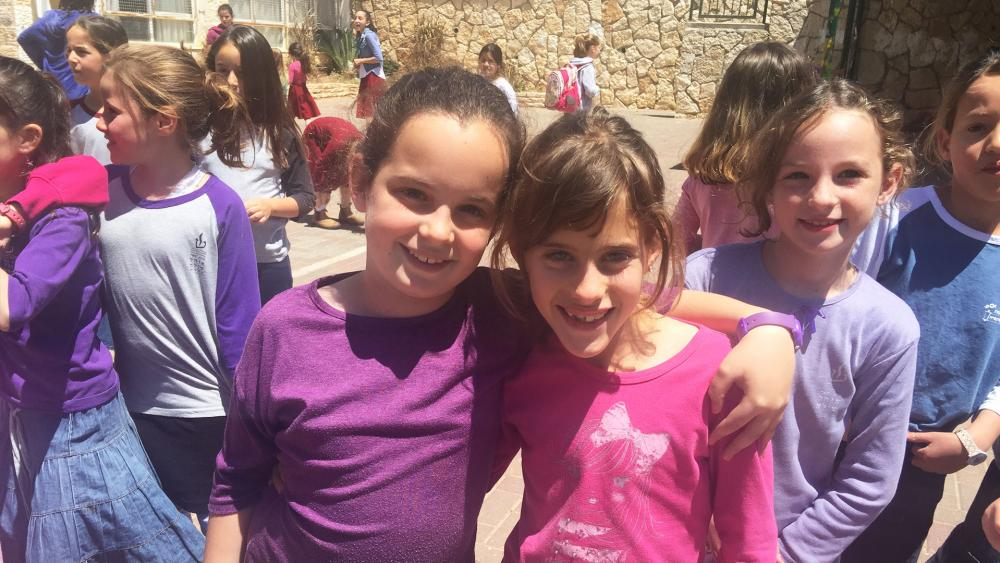 Israeli School Girls in Shiloh, CBN News image