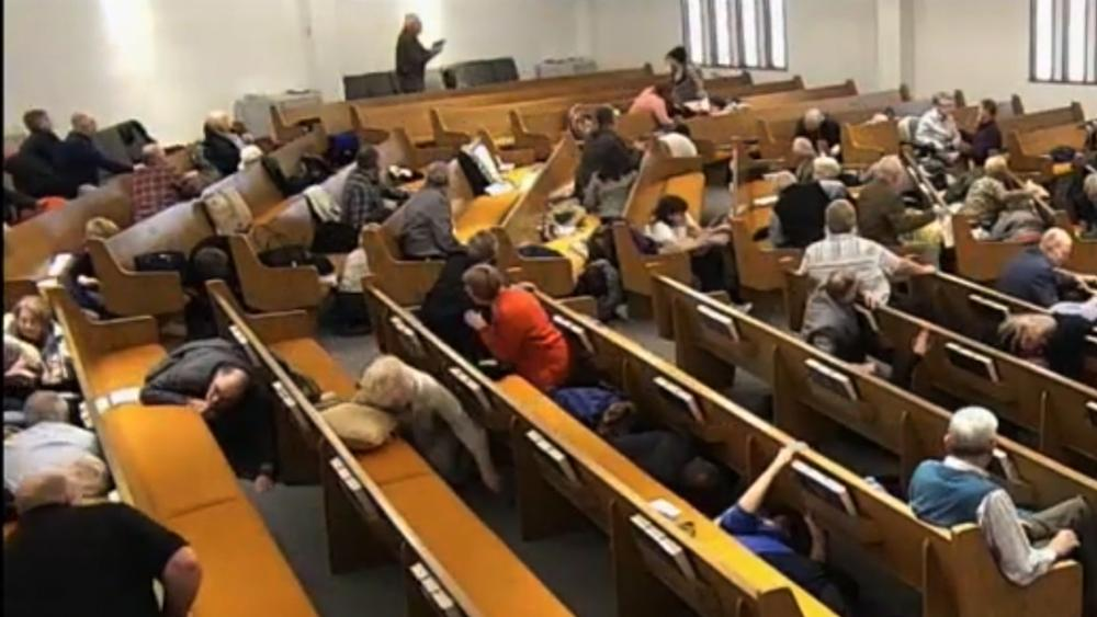 Church members with guns confronted the shooter at the West Freeway Church of Christ near Fort Worth, Texas. (Image: screen capture)
