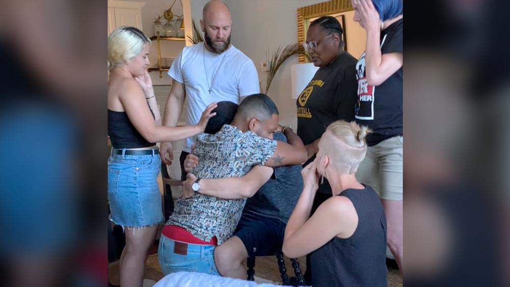 Group Prayer Hug