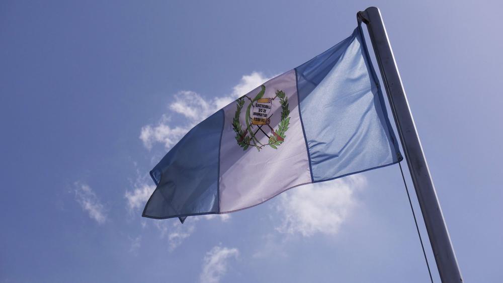 Guatemalan Flag, Photo, CBN News, Jonathan Goff