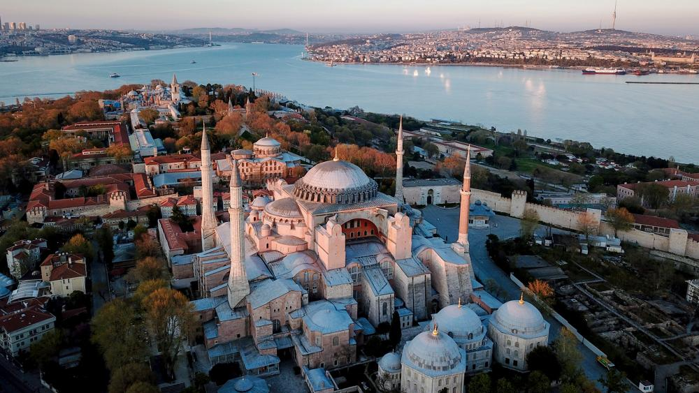 The Hagia Sophia Museum was once the main Christian cathedral of the Byzantine Empire.