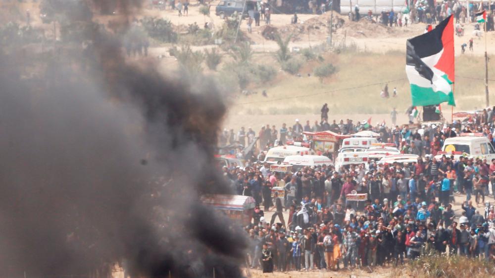 Hamas-led Riots at Border with Israel, Photo, AP