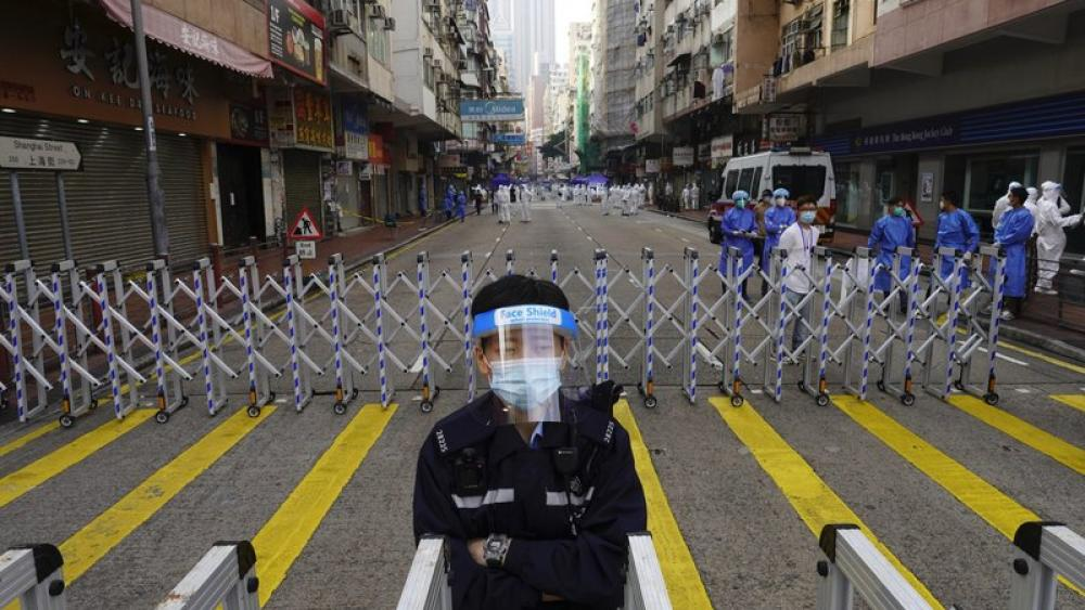 Thousands of Hong Kongers Locked Down to Contain Coronavirus thumbnail
