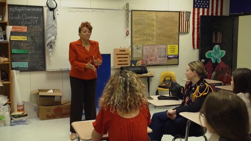 Smithfield High School students are learning about human trafficking.
