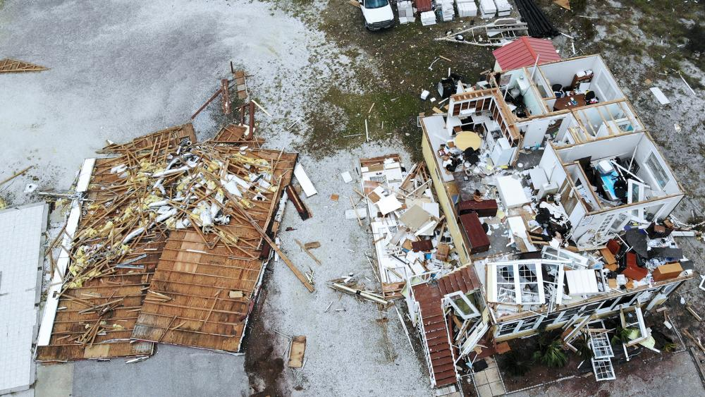 Damage in the aftermath of Hurricane Sally, Sept. 17, 2020, in Perdido Key, Fla. (AP Photo/Angie Wang)