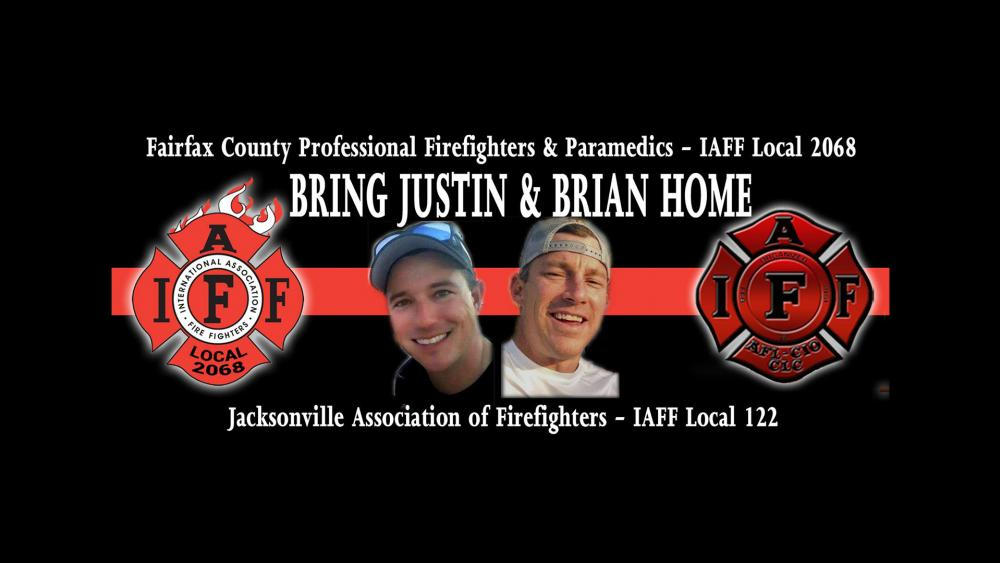 Justin Walker and Brian McCluney. (Image credit: Jacksonville Association of Firefighters - IAFF Local 122/Facebook)