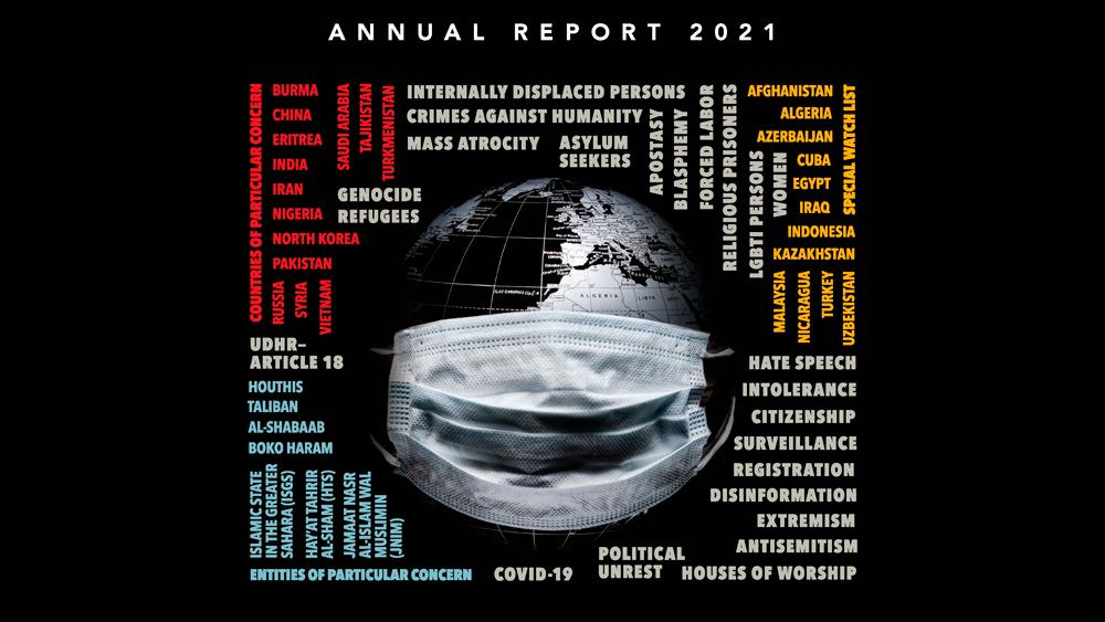Informe anual de 2021 de la Comisión de Estados Unidos sobre Libertad Religiosa Internacional. Imagen vía AP
